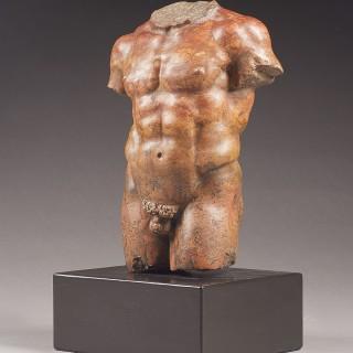 A Grand Tour Carved Torso of Hercules