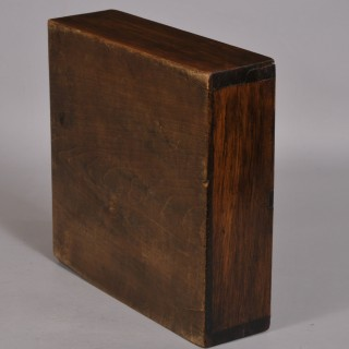 Antique Treen 19th Century Norwegian Birch Knitting Needle Box