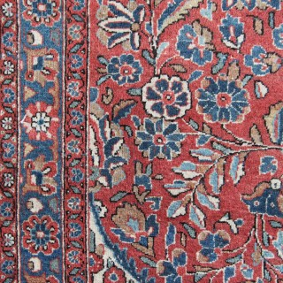 Antique Kashan carpet
