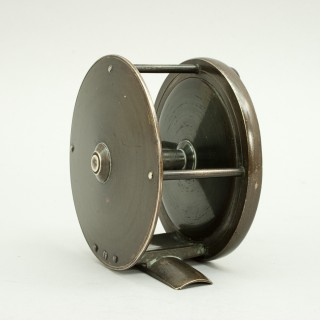 Brass Salmon Fishing Reel by Cummings