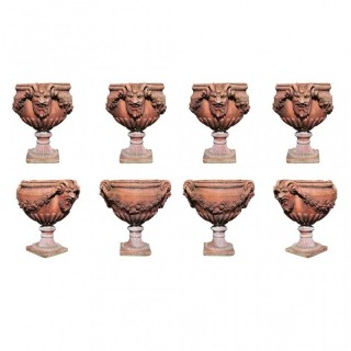 ANTIQUE VICTORIAN TERRACOTTA GARDEN POTS