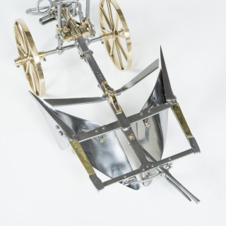 Model of a reversible mouldboard plough