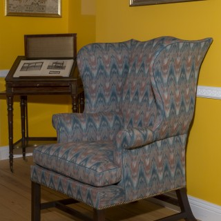 George III Chippendale Wingback  Armchair