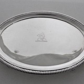 Very good quality crested oval George  III salver London 1803 Hannam & Crouch