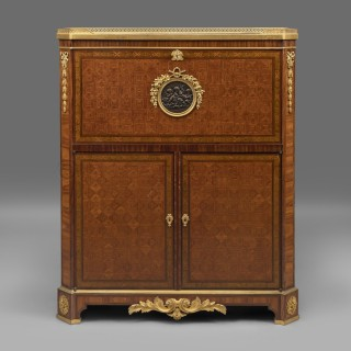 A Louis XVI Style Parquetry and Marquetry Fall-Front Secrétaire