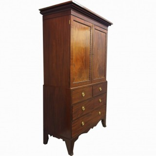 Scottish George III Mahogany Linen Press