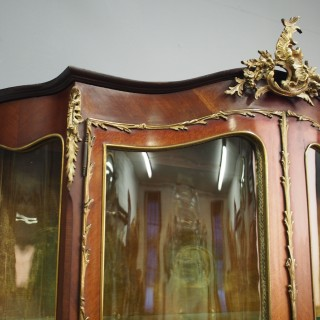 French Kingwood and Walnut Display Cabinet
