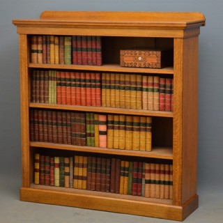 Victorian Oak Open Bookcase