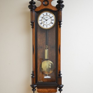 Victorian Vienna Clock in Walnut