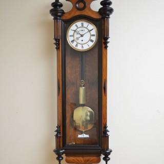 Victorian Vienna Clock in Walnut