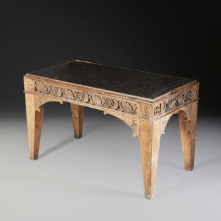 A gothic oak low table