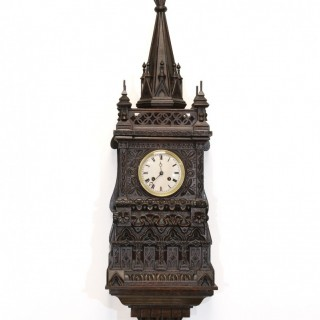 French Gothic Revival Bracket Clock