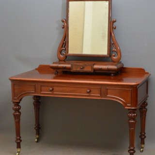 William IV Mahogany Writing or Dressing Table