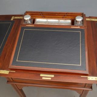 Edwardian Mahogany Writing Table by Maple & Co