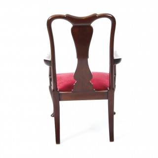 Antique Queen Anne Revival Mahogany Child's Chair C1920