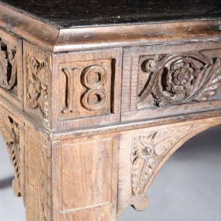 LATE 19TH CENTURY SOLID OAK ANTIQUE LOW TABLE