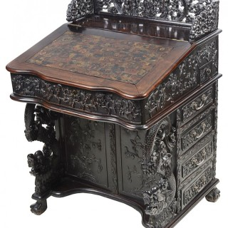 19th Century Chinese hardwood Davenport desk.
