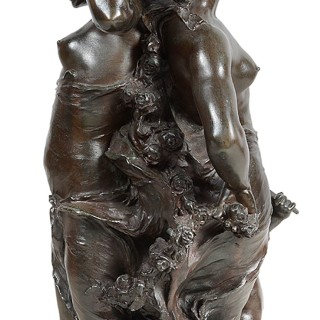 19th Century Bronze study, Music and Dance, by J.B.Germain