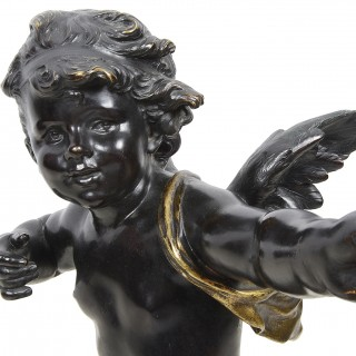 Large bronze Cupid by Aug. Moreau. 19th Century