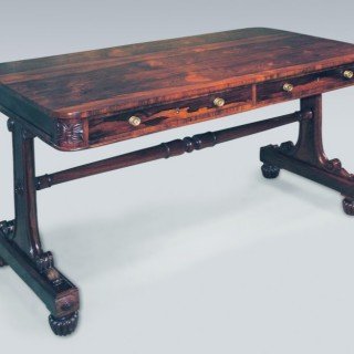 Early 19th Century Regency Rosewood Writing Table