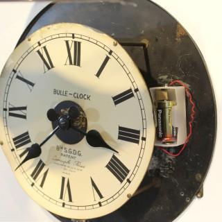 Bulle Nickel-plated metal wall clock, c.1930