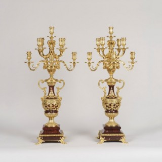 A Pair of Louis XVI Style Candelabra