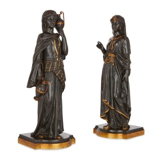 Two Orientalist gilt and patinated bronze sculptures after Bergman