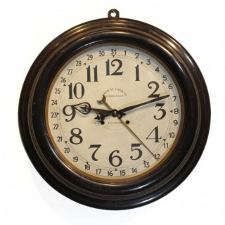 Very large striking Wall Clock, American