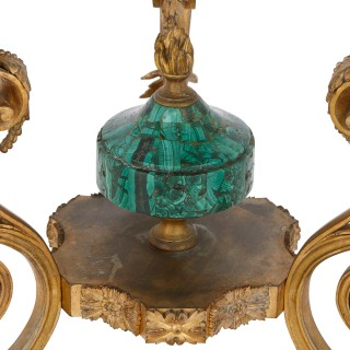 19th Century Russian malachite and gilt bronze gueridon