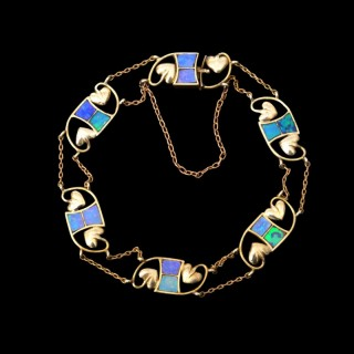 A rare opal and gold bracelet for Liberty & Co