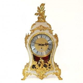 Large Fusee timepiece Mantel clock W&H