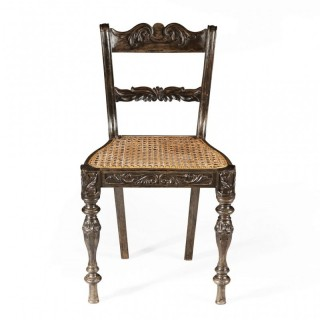 INDIAN EBONY SIDE CHAIR