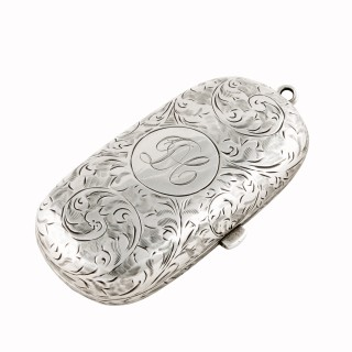 Sterling Silver Double Coin Holder