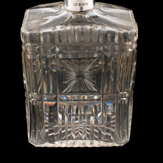 Silver Mounted Crystal Spirit Decanter