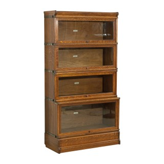 Antique Oak Globe Wernicke Bookcase, 4 Sections.