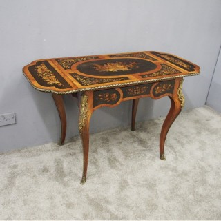 Victorian Marquetry Inlaid Kingwood Sofa Table or Writing Table