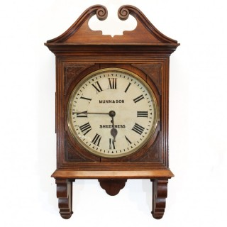 Large Antique Wall Clock, Munn & Son, Sheerness