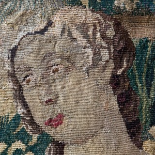 AUBUSSON TAPESTRY FRAGMENT, MID 18TH CENTURY