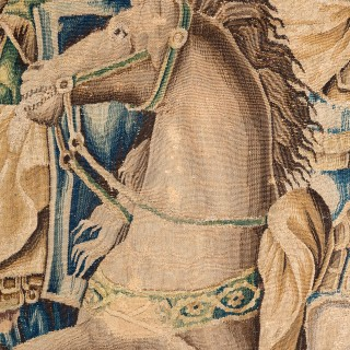 LATE 17TH CENTURY AUBUSSON HISTORICAL TAPESTRY
