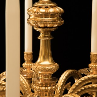19TH CENTURY LOUIS XIV STYLE GILT BRONZE CHANDELIER