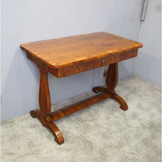 French Walnut Neoclassical Style Side Table