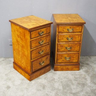Pair of Birds Eye Maple Bedsides