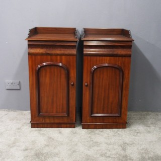 Pair of Victorian Mahogany and Pine Bedsides