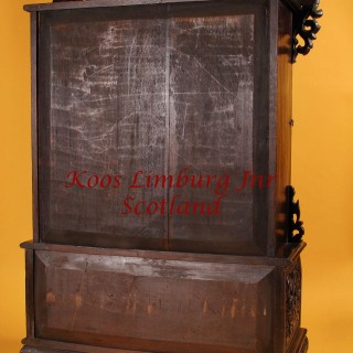 A Rare Carved Hardwood Miniature Anglo Indian Display Cabinet 19th Century