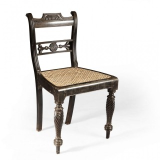 INDIAN SOLID EBONY SIDE CHAIR