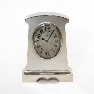 Solid Silver cased Desk Timepiece, 1921