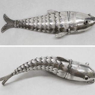 Antique Silver Fish Snuff Box - LAPADA