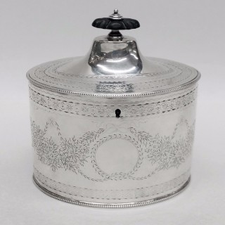 George III Silver Caddy Box