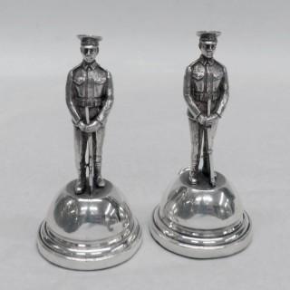 Silver Military Menu Holders