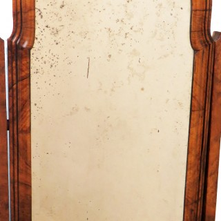 Georgian 18th Century Walnut English Dressing Table Mirror